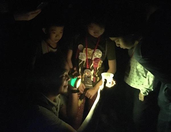 Para peserta memerhati kelip-kelip.