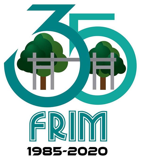 Logo ulang tahun FRIM ke-35.
