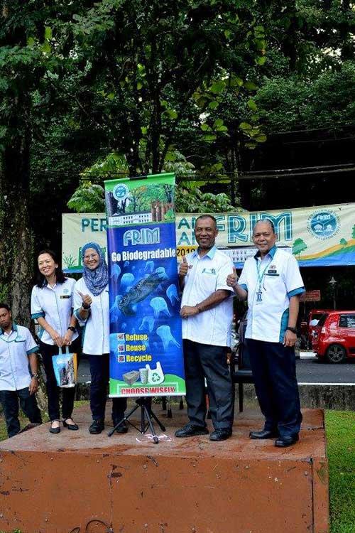 pelancaran kempen 'FRIM Go Biodegradable'