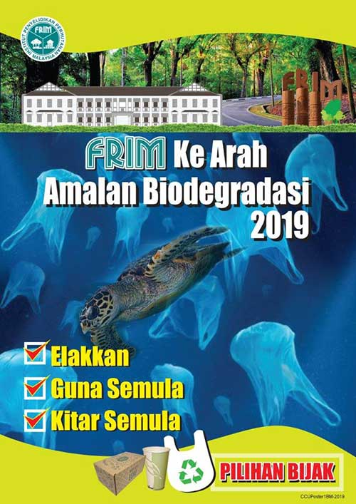FRIM Go Biodegradable' poster.